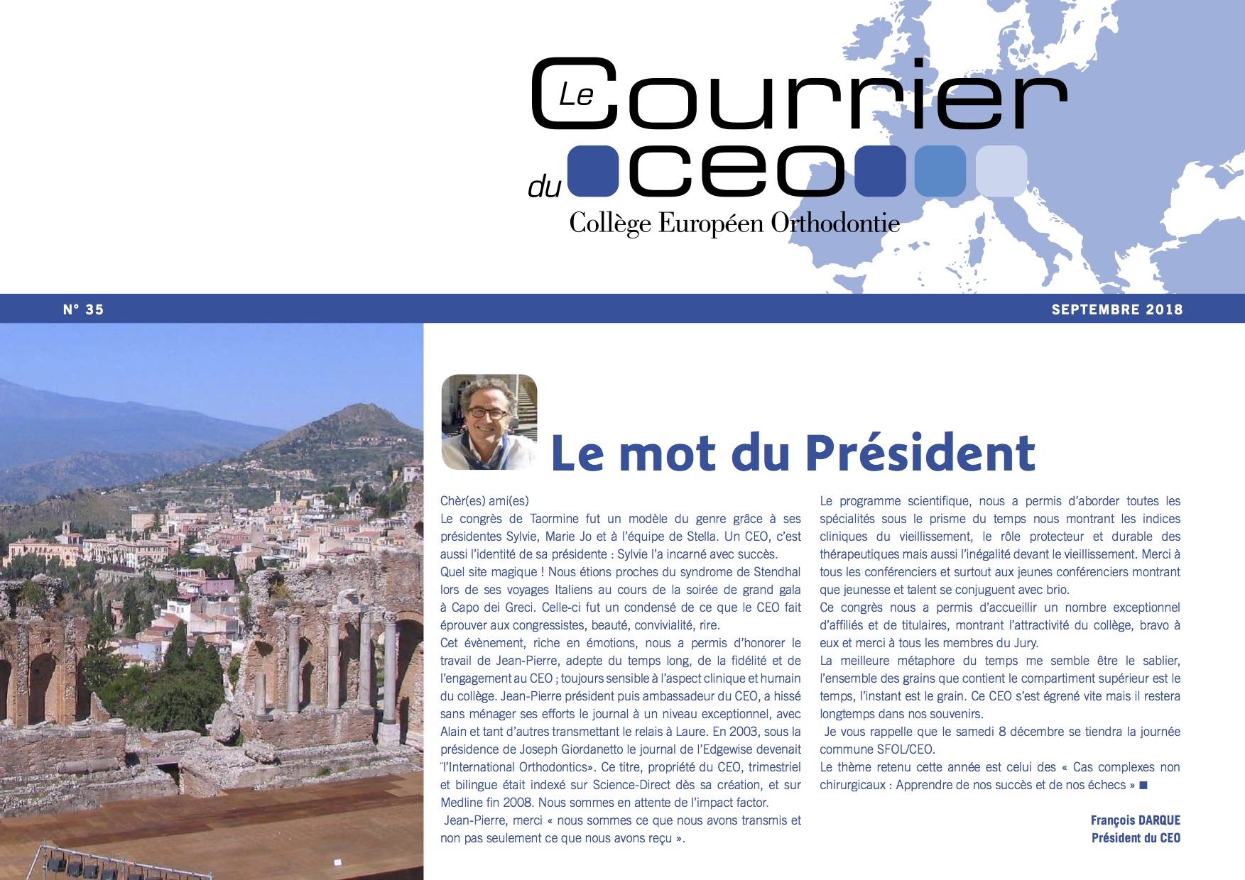 le courrier du CEO de Septembre  2018